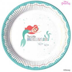DISNEY ARIEL UNDER THE SEA LARGE PAPER PLATE (8CT X 6 PACKS)