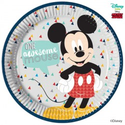 MICKEY MOUSE AWESOME LARGE PAPER PLATE (8CT X 6 PACKS)