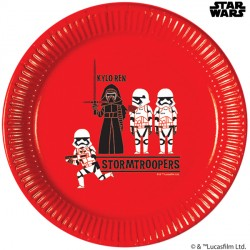 STAR WARS PAPER CUT LARGE PAPER PLATE (8CT X 6 PACKS)