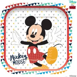 MICKEY MOUSE AWESOME SQUARE PAPER PLATE (4CT X 6 PACKS)