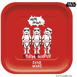 STAR WARS PAPER CUT SQUARE PAPER PLATE (4CT X 6 PACKS)