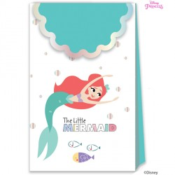 DISNEY ARIEL UNDER THE SEA PAPER BAGS (6CT X 6 PACKS)
