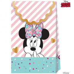 MINNIE MOUSE PARTY GEM PAPER BAGS (6CT X 6 PACKS)
