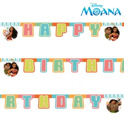 MOANA BIRTHDAY BANNER (1CT X 6 PACKS)