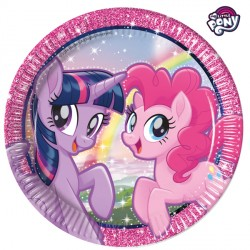 MY LITTLE PONY MOVIE PAPER PLATES LARGE 23cm (8CT X 6 PACKS)