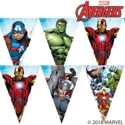 AVENGERS MIGHTY TRIANGLE FLAG BANNER (1CT X 6 PACKS)
