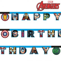 AVENGERS MIGHTY BIRTHDAY BANNER (1CT X 6 PACKS)