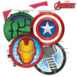 AVENGERS MIGHTY INVITATIONS & ENVELOPES (6CT X 6 PACKS)