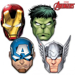 AVENGERS MIGHTY PARTY MASK (6CT X 6 PACKS)