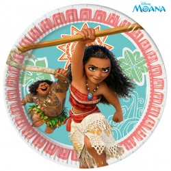 MOANA PAPER PLATES MEDIUM 20cm (8CT X 6 PACKS)