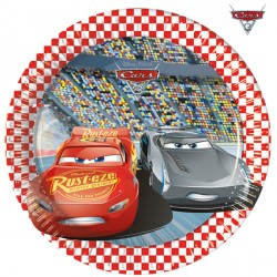 CARS 3 PAPER PLATES MEDIUM 20cm (8CT X 6 PACKS)