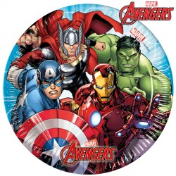AVENGERS MIGHTY PAPER PLATES MEDIUM 20cm (8CT X 6 PACKS)