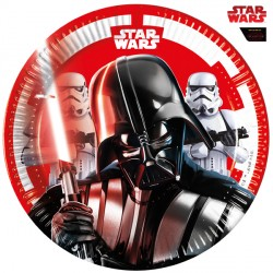 STAR WARS FINAL BATTLE PAPER PLATES MEDIUM 20cm (8CT X 6 PACKS)