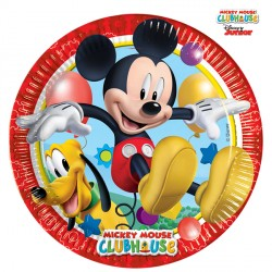MICKY MOUSE PLAYFUL PAPER PLATES MEDIUM 20cm (8CT X 6 PACKS)