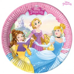 DISNEY PRINCESS PAPER PLATES MEDIUM 20cm (8CT X 6 PACKS)