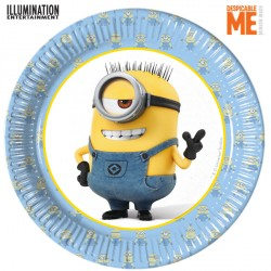 MINION PAPER PLATES MEDIUM 20cm (8CT X 6 PACKS)