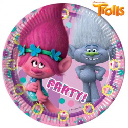 TROLLS PAPER PLATES MEDIUM 20cm (8CT X 6 PACKS)