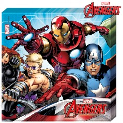 AVENGERS MIGHTY NAPKINS 2-PLY (20CT X 6 PACKS)