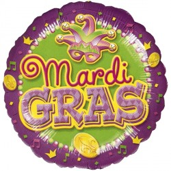 "MARDI GRAS PURPLE 18"" SALE"