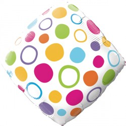"ACCENT COLORFUL DOTS  18"" SALE"