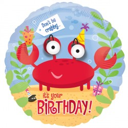 "DON'T BE CRABBY HAPPY BIRTHDAY 18"" EYE POPPERS SALE"