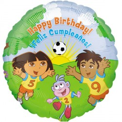 "DORA THE EXPLORER FOOTBALL BIRTHDAY 18"" SALE"