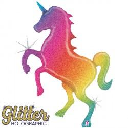 UNICORN GLITTER RAINBOW GRABO SHAPE PKT