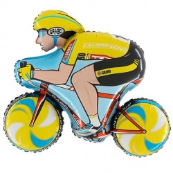 CYCLIST YELLOW GRABO SHAPE FLAT