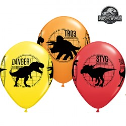 "JURASSIC WORLD FALLEN KINGDOM 11"" YELLOW, RED & ORANGE (25CT)"
