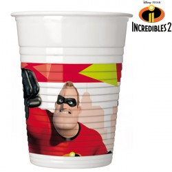INCREDIBLES 2 PLASTIC CUPS (8CT X 6 PACKS)