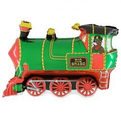 TRAIN GREEN GRABO SHAPE FLAT