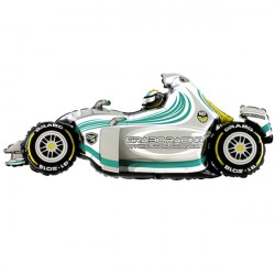 FORMULA 1 CAR GREY SHAPE GRABO FLAT