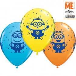 "MINIONS 11"" YELLOW, ROBIN'S EGG BLUE & ORANGE (25CT)"