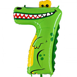 "ANIMALOONS NUMBER 7 CROCODILE SHAPE 40"" PKT"