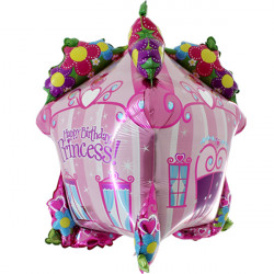 "PRINCESS HOUSE HAPPY BIRTHDAY 34"" 3D/4D SHAPE D6 PKT"