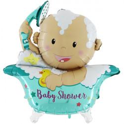 """BABY SHOWER STAR 42"""" 3D/4D SHAPE D6 PKT"""