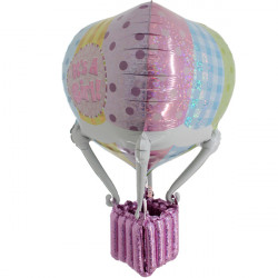 HOT AIR PATCHWORK BABY GIRL 3' 3D/4D SHAPE D7 PKT