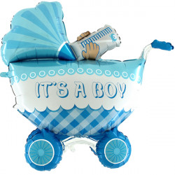 "BABY BUGGY IT'S A BOY 42"" 3D/4D SHAPE D4 PKT"
