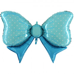 "BLUE BOW 43"" SHAPE E PKT"