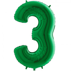 "GREEN NUMBER 3 SHAPE 40"" PKT"