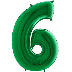 "GREEN NUMBER 6 SHAPE 40"" PKT"