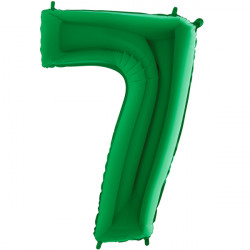 "GREEN NUMBER 7 SHAPE 40"" PKT"