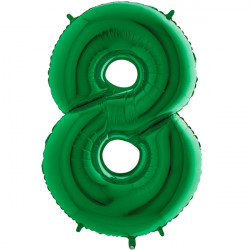 "GREEN NUMBER 8 SHAPE 40"" PKT"
