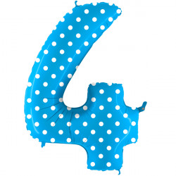 """POIS TURQUOISE NUMBER 4 SHAPE 40"""" PKT"""