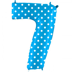 """POIS TURQUOISE NUMBER 7 SHAPE 40"""" PKT"""