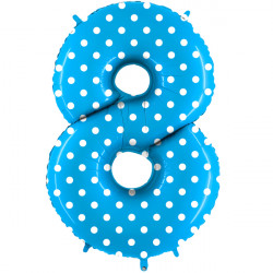 """POIS TURQUOISE NUMBER 8 SHAPE 40"""" PKT"""
