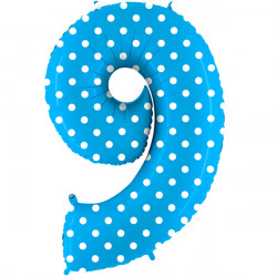 """POIS TURQUOISE NUMBER 9 SHAPE 40"""" PKT"""