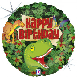 "DINOSAUR BIRTHDAY 18"" HOLOGRAPHIC PKT"