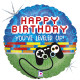 """GAME CONTROLLER BIRTHDAY 18"""" HOLOGRAPHIC PKT"""