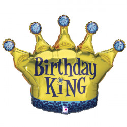 "CROWN BIRTHDAY KING 36"" SHAPE C PKT"